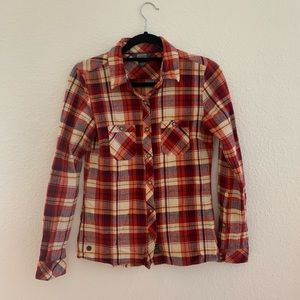 Outdoor Research Ceres Red Plaid Long Sleeve Top
